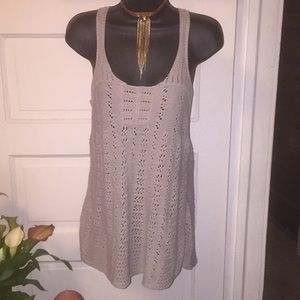Crochet tank top by banana republic